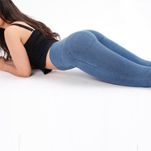 2019 spring and summer new high waist jeans womens street Carry buttock XL ladies pencil pants tight