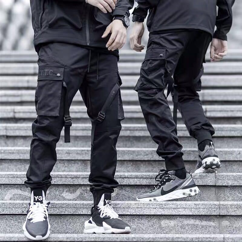 2019 National Trends Tactical Service Function-Style Parachute Pants Bib Overall Men's Popular Brand Casual Ankle Banded Pants B