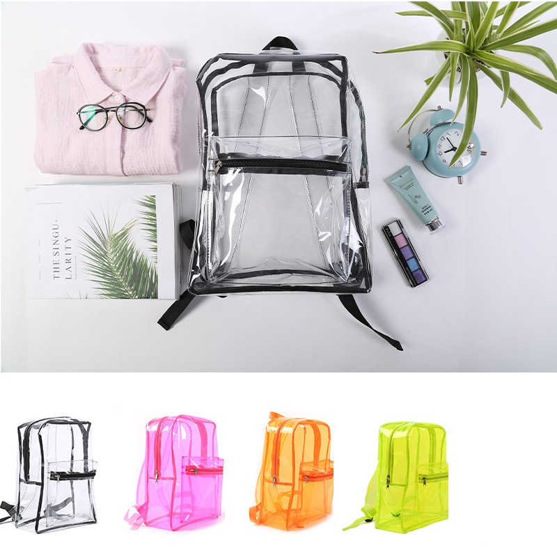Miyahouse High Quality PVC Transparent Women Backpack Candy Color Clear Rucksack For Teenage Girls Cute Jelly School Backpack
