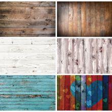 Vinyl Photography Background Wooden-Boards Plank Laeacco Grunge Photo-Studio Portrait