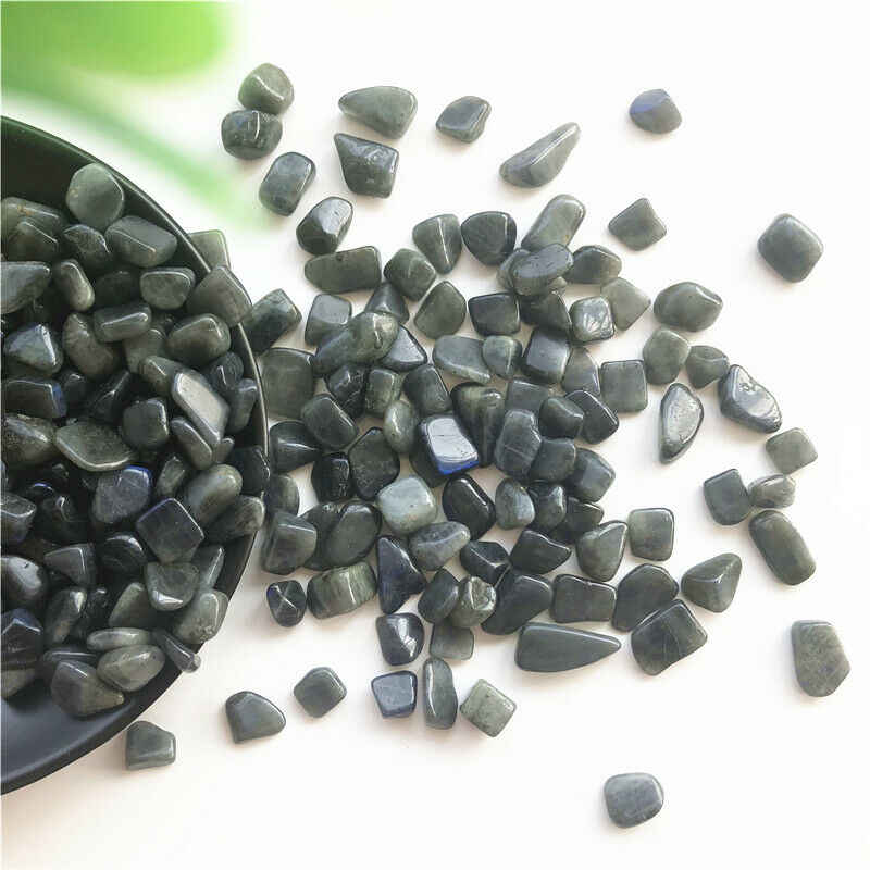 50g טבעי ברדוריט מכובס אבנים ליטוש החצץ כחול מהבהב קישוט טבעי קוורץ גבישי 8-12mm