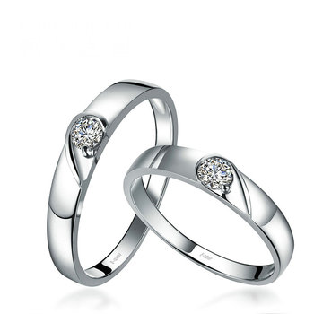 18ct Gold Diamond Couple Set  1