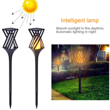 72LED Solar Flame Lights Lawn Light Security Lamp Home Yard Path Christmas Party Garden Flickering Landscape Xmas