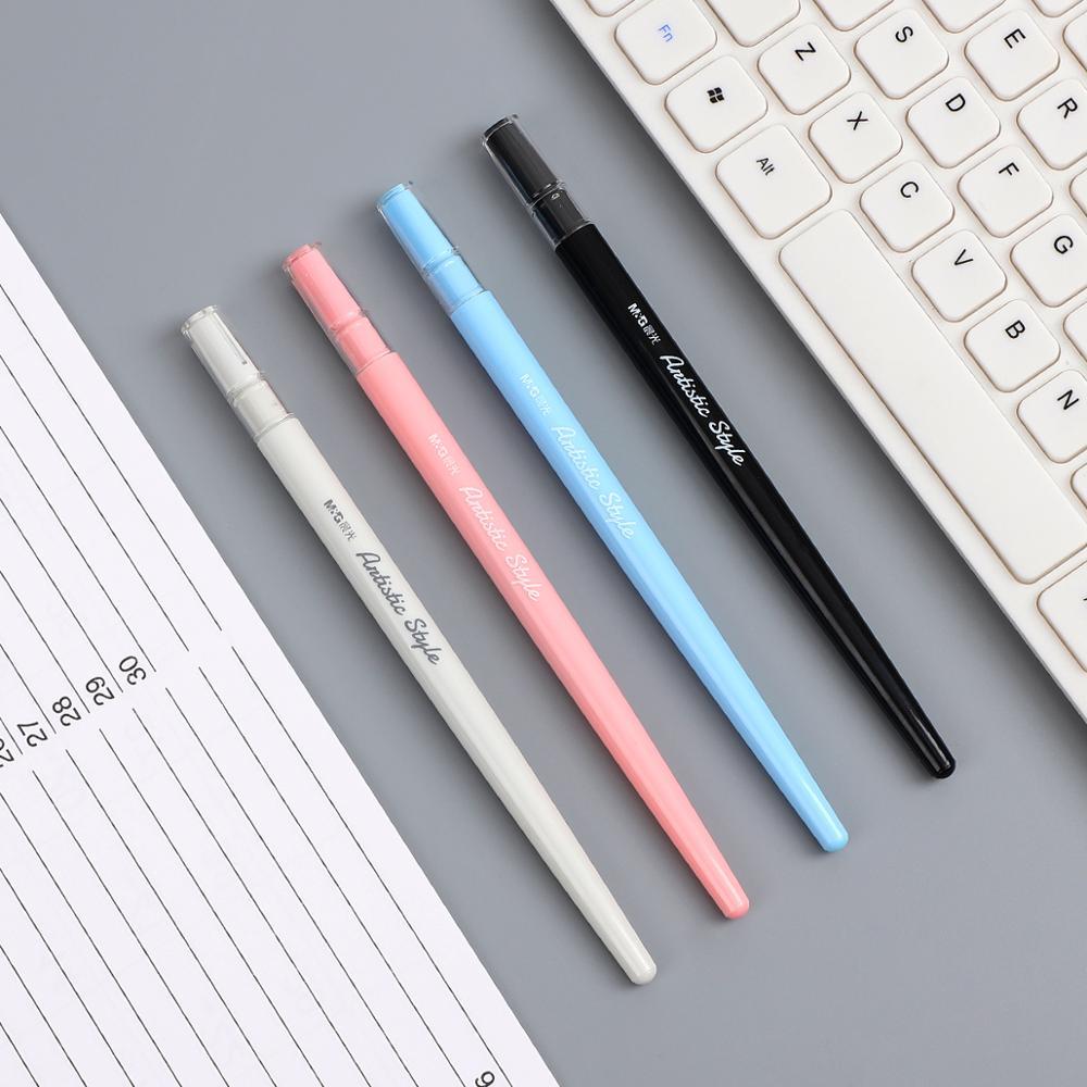 JIANWU 1pc 0.5mm Simple Thin Penholder Fresh For Kids Girls Gifts School Writing Fountain Pen Office Supplies Kawaii Stationery