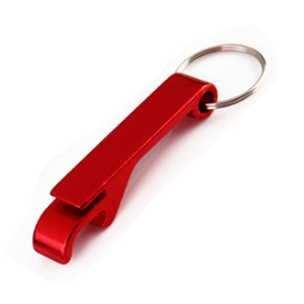 المحمولة 4 في 1 مفتاح زجاجات سلسلة حلقية كيرينغ المفاتيح المعادن البيرة بار أداة مخلب هدية فريد الإبداعية هدية لون عشوائي