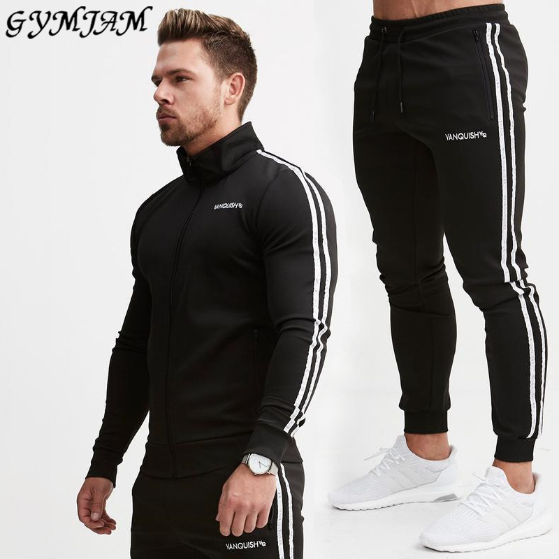 Cotton Casual Men's Suit 2020 Outdoor Streetwear Casual Workwear Fashion Exercise Jogger Fitness Sportswear Brand Men's Clothing