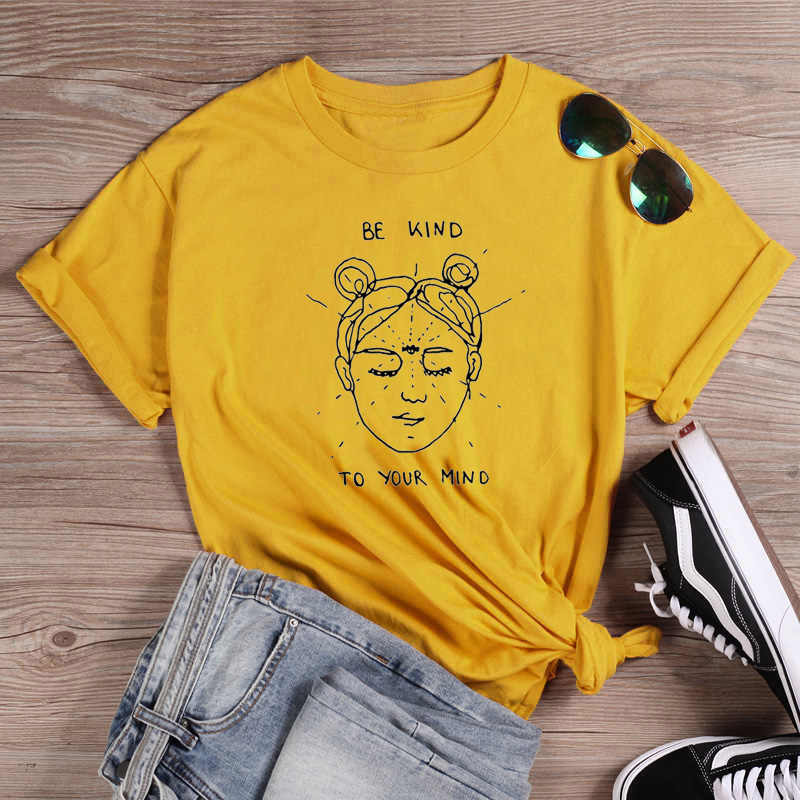 Ser amable a tu mente divertida camiseta harajuku tumblr cita ...