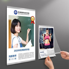 A4 Wall Mount Self-Adhesive Magnetic Acrylic Photo Picture Poster Sign Holder Display Frame Board