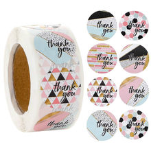500 pçs presente de natal adesivos de vedação obrigado amor design diário scrapbooking adesivos festa presente decorações etiquetas
