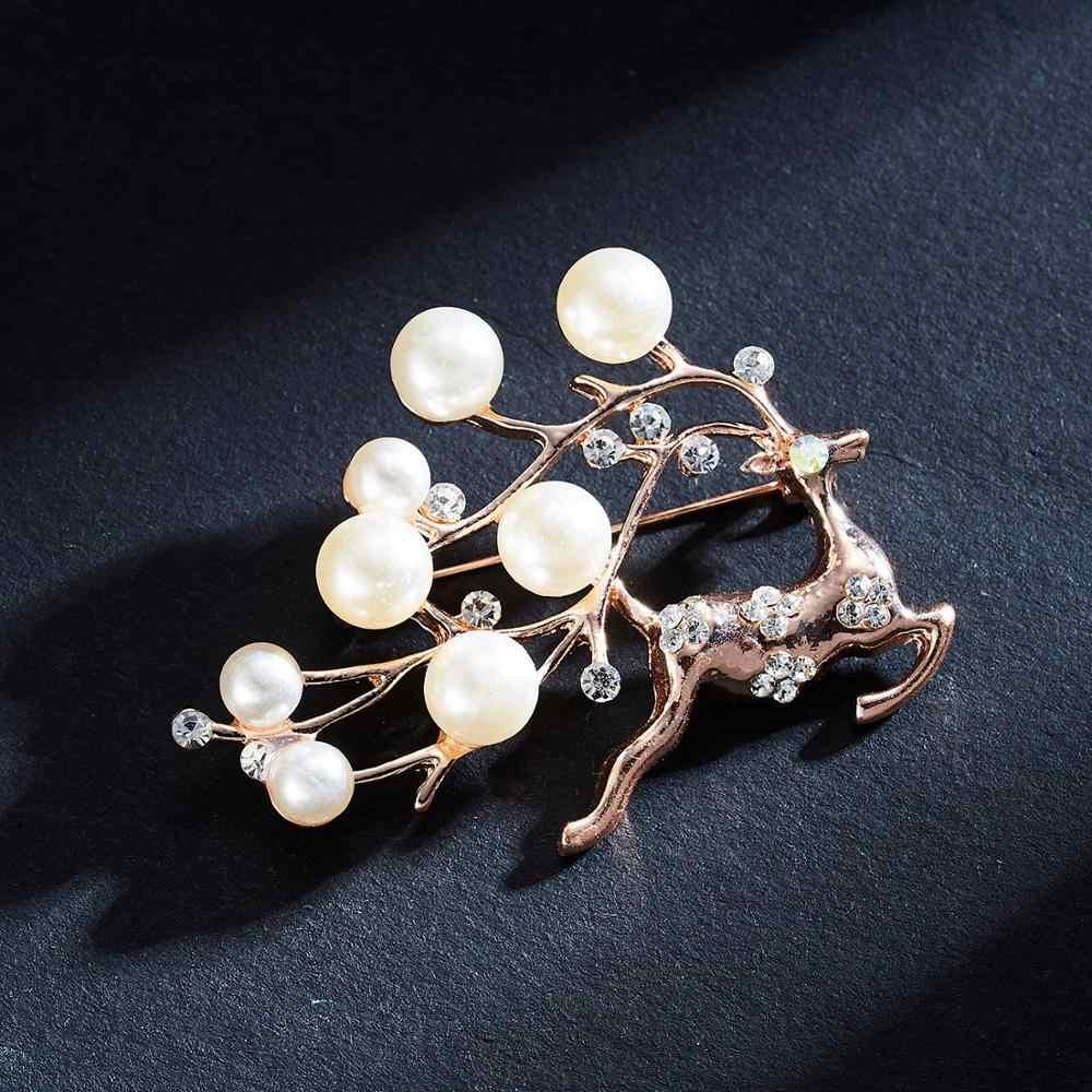 Cervo Delfino Ombrello Di Natale Albero Di Natale Spilla di Strass Nozze Donne Elegante di Cerimonia Nuziale di Cristallo Corpetto Spilla Del Vestito