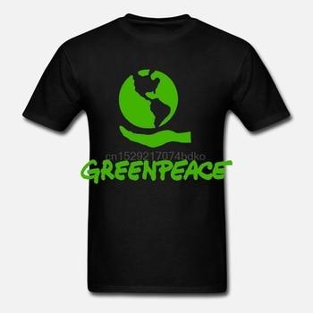Lo más nuevo de 2019, camiseta verde con símbolo de la paz para hombre, camiseta negra, talla S a 3XL, ropa deportiva de verano, camiseta casual