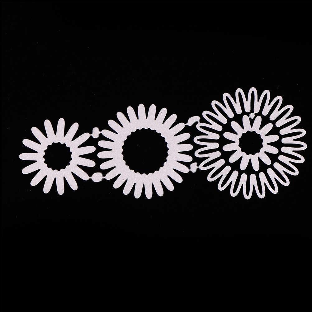การ์ดอวยพรดอกไม้สไตล์ตกแต่งลูกไม้ Hollow กรอบโลหะตัด Dies Stencil กรอบ Embossing แม่แบบ 13 ซม.* 5 ซม.