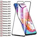 100D Защитное стекло для Samsung A12 A42 A01 A11 A21 A31 A41 A51 A71 защита для экрана Galaxy F41 M01 M11 M21 M31 M51 стеклянная пленка