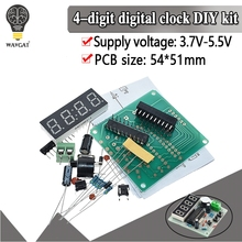 WAVGAT AT89C2051 Digital 4 Bits Electronic Clock Electronic