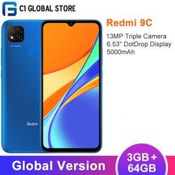 Versão global xiaomi redmi 9c 3gb 64gb smartphone mtk helio g35 octa núcleo 13mp triplo câmera 6.53