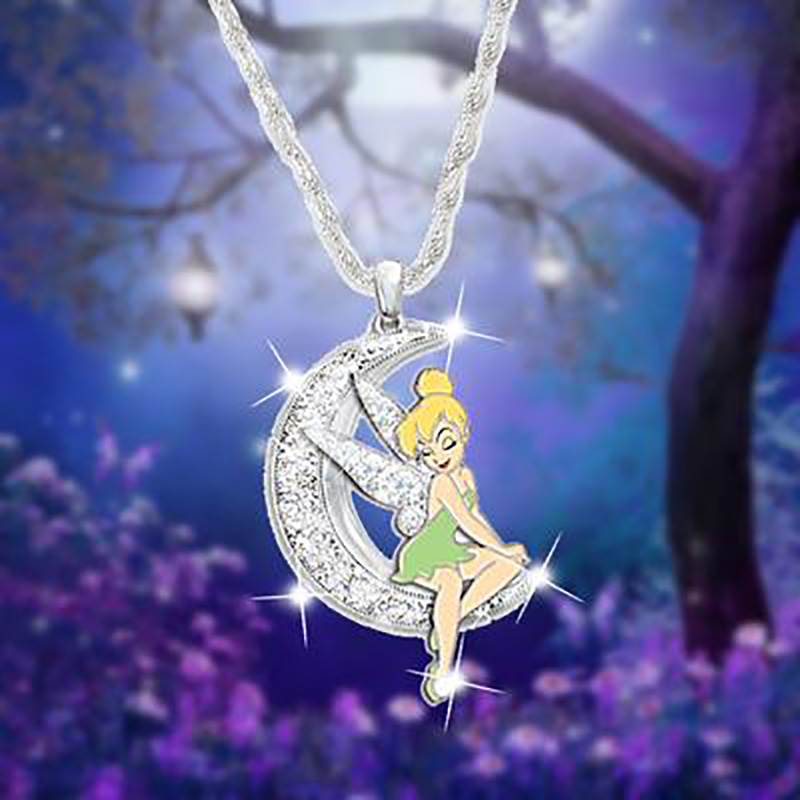 Berbeny 2020 New Crystal Elf Moon Necklaces Girls Rhinestones Angel Wings Chain Pendant Necklace Flower Fairy Shiny Necklace Chain Necklaces Aliexpress