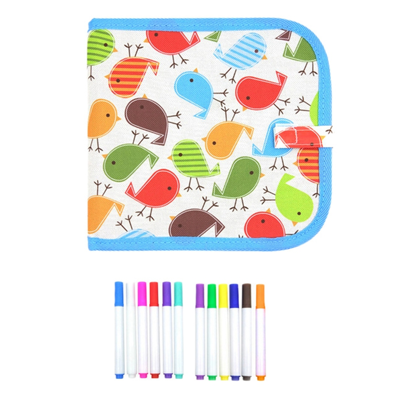 Kids Portable Chalk Board Water Drawing Book Writing Board Chalk Coloring Book DIY Blackboard Painting Toys For Children