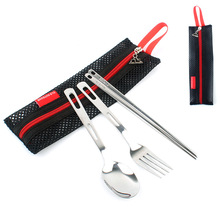 Outdoor Tableware Camping Tourist applianc Hiking Survival Walking tableware set Cutlery Portable kamp Picnic utensils