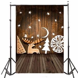 Best Sellers Freya 90x150cm Christmas Theme Photography Background Gift Wooden Warm Color Vinyl Backdrop Studio Photo Shot Back Drops Decor