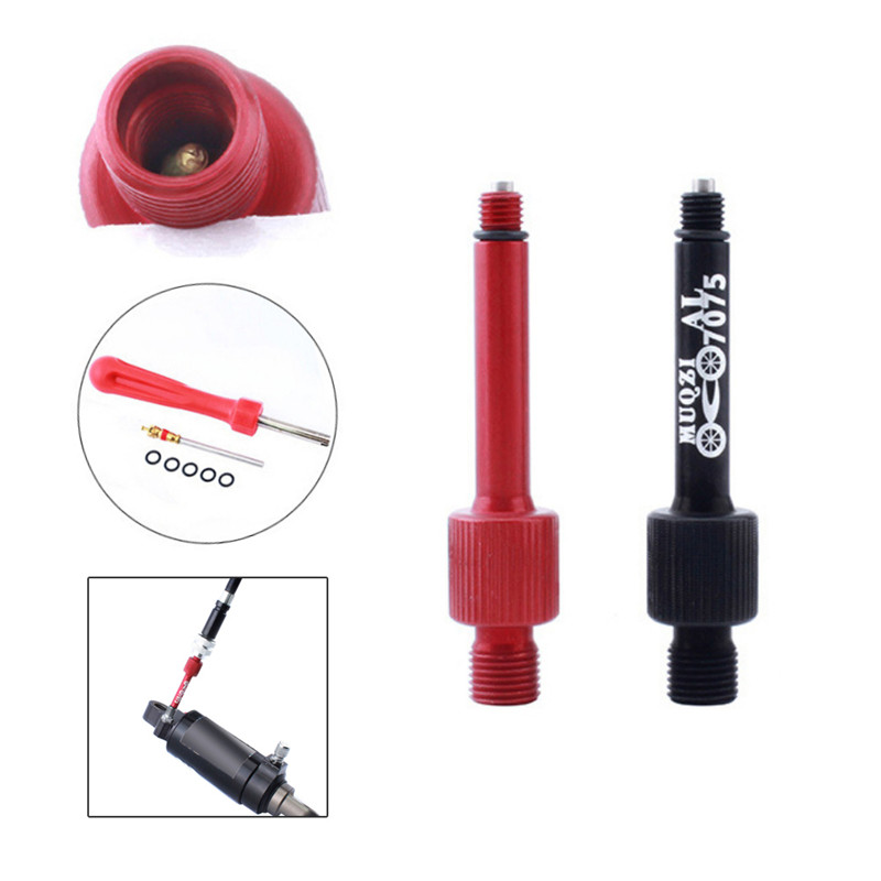 Rear Biliary Shock Absorber Gas Filling Nozzle IFP Air Nozzle Aluminum Alloy Lengthen Anti Leakage Mountain Road Bike|Bicycle Repair Tools| |  - title=