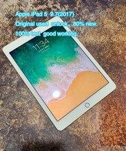 Original refurbish apple ipad 5 ipad a1823 a1822 5th ipad 2017 9.7 polegadas wifi versão preto branco sobre 80% novo