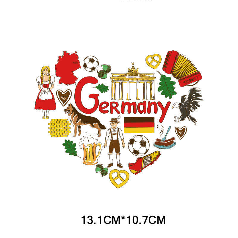 น่ารักสัตว์ธง Letter เหล็กเกี่ยวกับการโอนแพทช์รักประเทศโอนความร้อน Patch สำหรับเสื้อผ้าเด็กผู้หญิงเสื้อยืด DIY สติกเกอร์ F