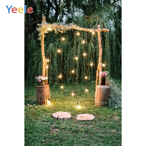 Image 5 - Yeele חתונה שיחת וידאו וילון עצי כר דשא דקור צילום רקע מותאם אישית צילום תפאורות צילום סטודיו