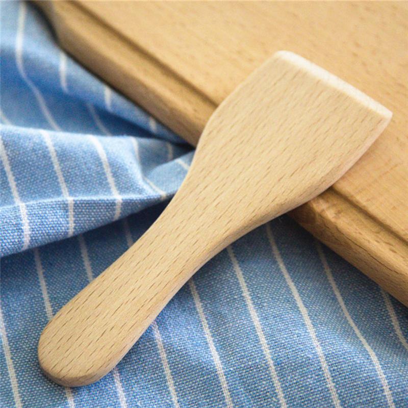 Wooden Turner Spatulas Kitchen Utensils Beech-Butter Heat-Resistant Small Shovel Rice-Spoon