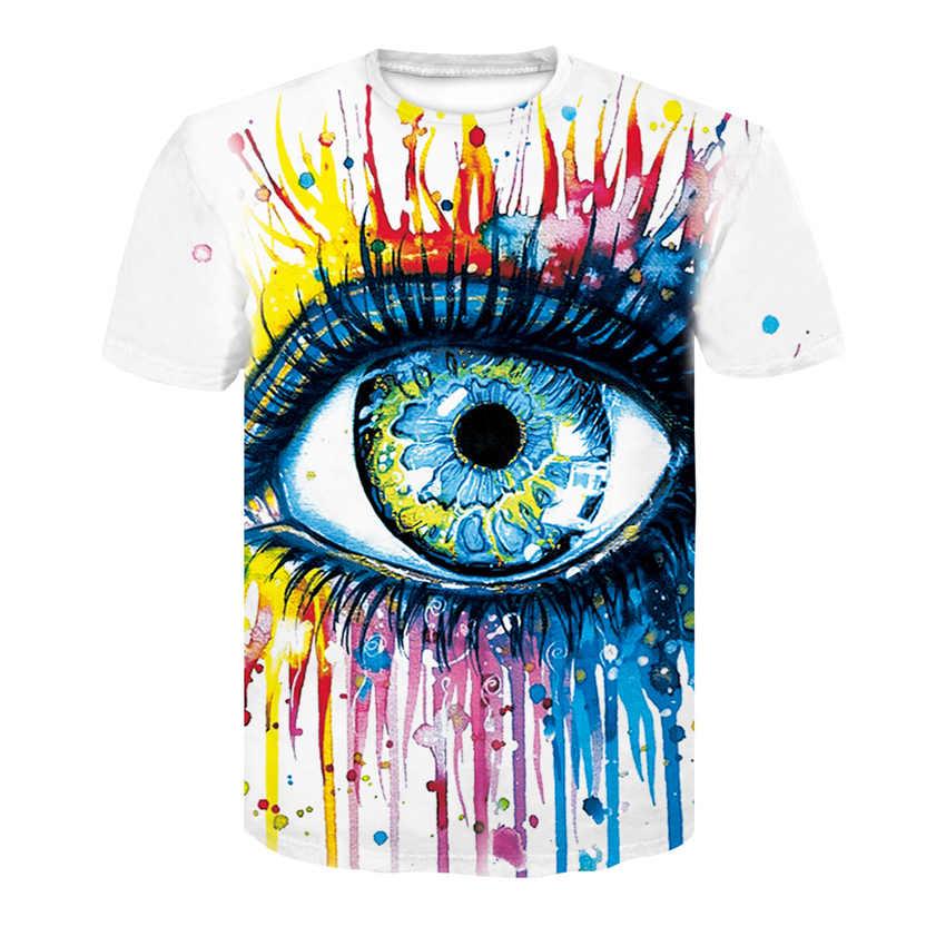 Di nuovo modo di marca T-Shirt per gli uomini e le donne di estate 3d T-Shirt di colore stampato T-Shirt top T-Shirt T-Shirt formato Asiatico
