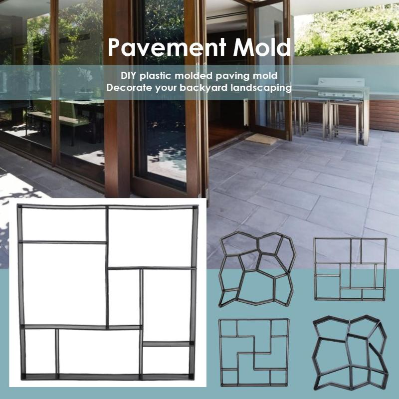 Garden Walk Pavement Mold DIY Manually Paving Cement Brick Stone Road Concrete Molds Path Maker For Garden Courtyard Pavement