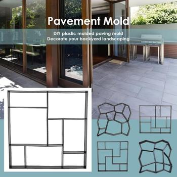 Garden Walk Pavement Mold DIY Manually Paving Cement Brick Stone Road Concrete Molds Path Maker for Garden Courtyard Pavement image
