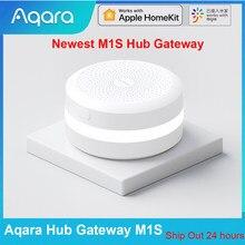 Newest Aqara Hub Gateway M1S With RGB Light Zigbee 3.0 APP Remote Control for Smart Home Security Work Mijia APP Apple Homekit
