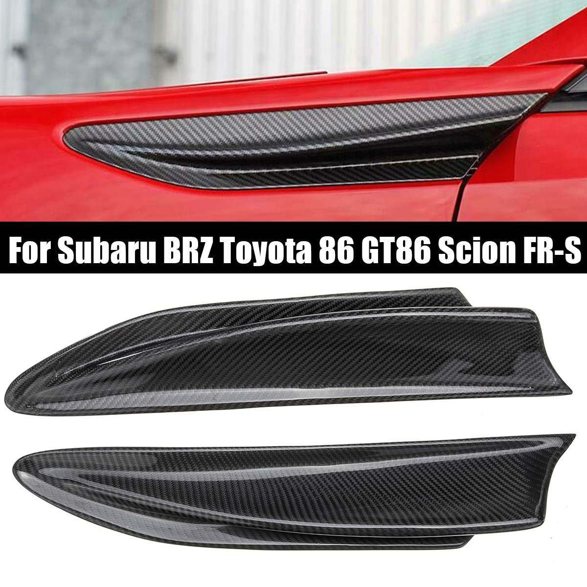2 évents latéraux d'aileron de Fiber de carbone de pièces/ensemble pour Subaru BRZ pour Toyota 86 GT86 Scion FR-S