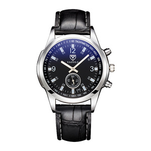 Image 5 - yazole Quartz Men Watch Male Leather Strap Analog Business Casual Thin Luminous Hands Waterproof Wrist Watch for Men Wristwatch