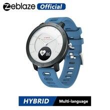 Zeblaze היברידי קצב לב צג לחץ דם Smartwatch נסתרת מגע מסך ספורט מעקב חכם שעון עם הודעות