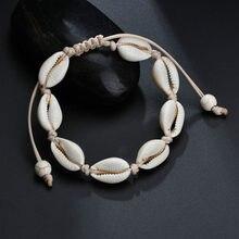 Lolede tornozeleiras para mulher concha pé jóias verão praia descalço pulseira tornozelo na perna cinta boêmia acessórios