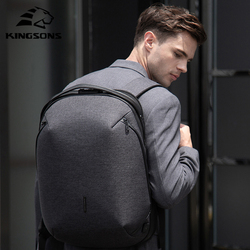 Kingsons 2020 New High-end Man Backpack Fit 15 inch Laptop USB Recharging Multi-layer Space Travel Waterproof Anti-thief Mochila