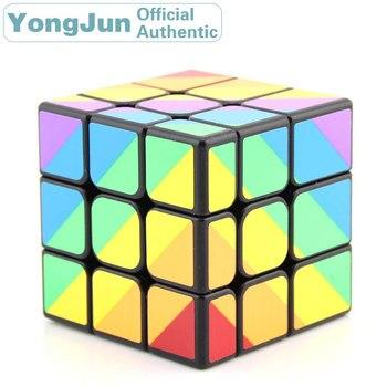 YongJun Scalene Unequal 3x3x3 Magic Cube YJ 3x3 Professional Neo Speed Puzzle Antistress Educational Toys For Children yongjun mirror 2x2x2 magic cube yj 2x2 professional speed puzzle antistress educational toys for children