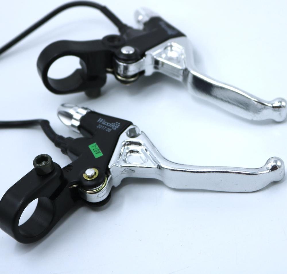 Whole Aluminum Alloy Brake Lever for Electric Bike  Ebike Brake Lever  Electric Scooter Brake Lever With 2M Wire|Electric Bicycle Accessories| |  - title=