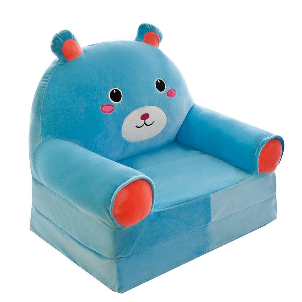 Johnear Kids Sofa Cute Cartoon Animal Bean Bag Armchair Backrest Chair Children's Sofa Support Seat For Playroom Bedroom