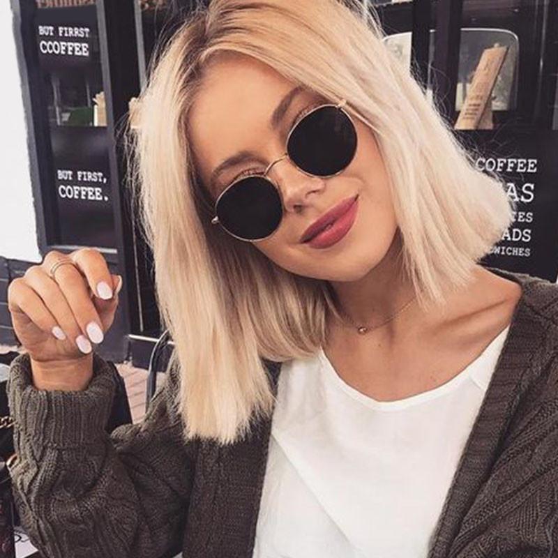Vintage Alloy Women Sunglasses Luxury Brand Designer Classic Small Frame Driving Mirror Eyewear Oculos De Sol Masculino