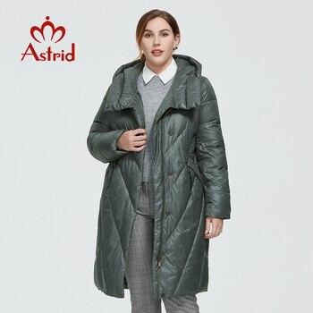 Astrid 2020 delle Nuove donne di Inverno cappotto lungo delle donne parka caldo di modo di spessore Giacca con cappuccio Bio-Imbottiture di grandi dimensioni abbigliamento femminile 6580 1