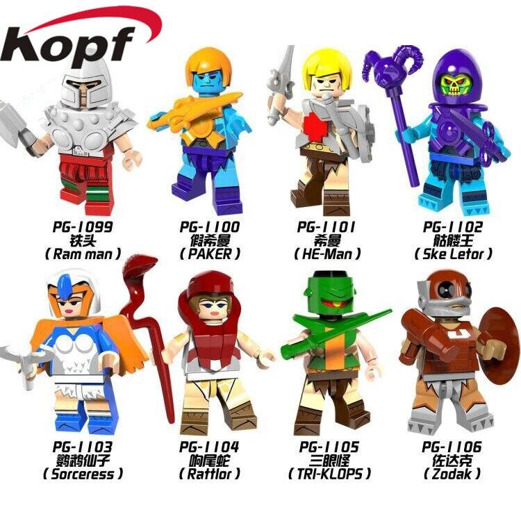 HE-Man MASTERS Zodak Rattlor Ram Man PAKER Ske Letor Sorceress TRI-KLOPS Legoingly Building Blocks Toys For Children Kids PG8089