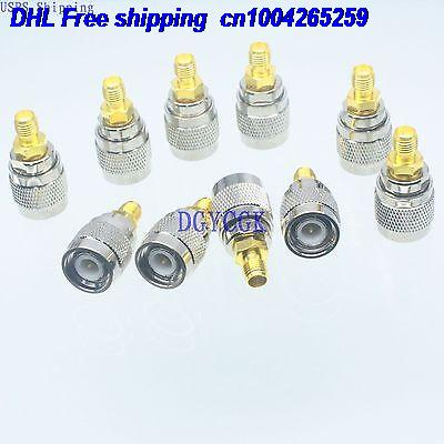 DHL 100pcs Conversion Adapter TNC male M connector to SMA female F RF for Antenna connector 22-ct