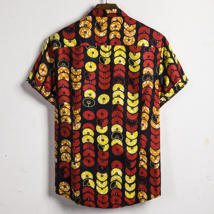 Men Dashiki Loose Blouse Fashion Tee Tops Bazin Riche African India Casual T Shirt Ankara Homme Short Sleeve Print Retro Clothes