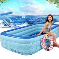 Super~ Large 300x180x60cm Family Home Backyard Inflatable Swimming Pool Outdoor Indoor Adults Kids Pool Bathing Tub Ball Pool