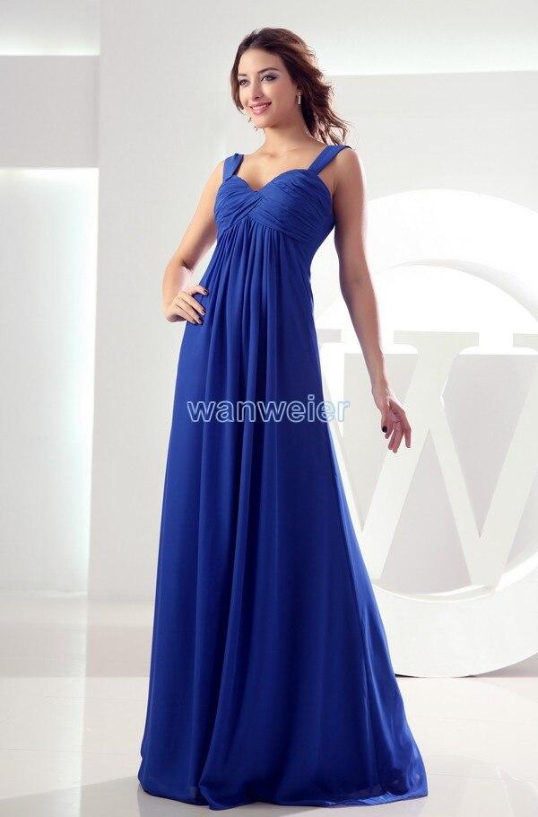 Free Shipping Maxi Long 2016 Chiffon Modest Royal Blue Pregnant Women Maternity Dresses Sexy Davids Bridal Bridesmaid Dresses