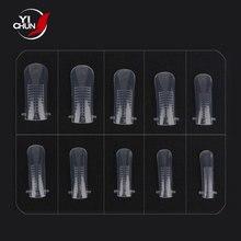 Nail-Form Acrylic-Gel Poly Reusable Manicure-Fiber Artificial-Finger-Tip 100pcs Professional