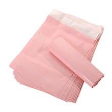 50 pces mailers rosa translúcido correio sacos de embalagem carta supplieswaterproof sacos material envelope mailer correio postal