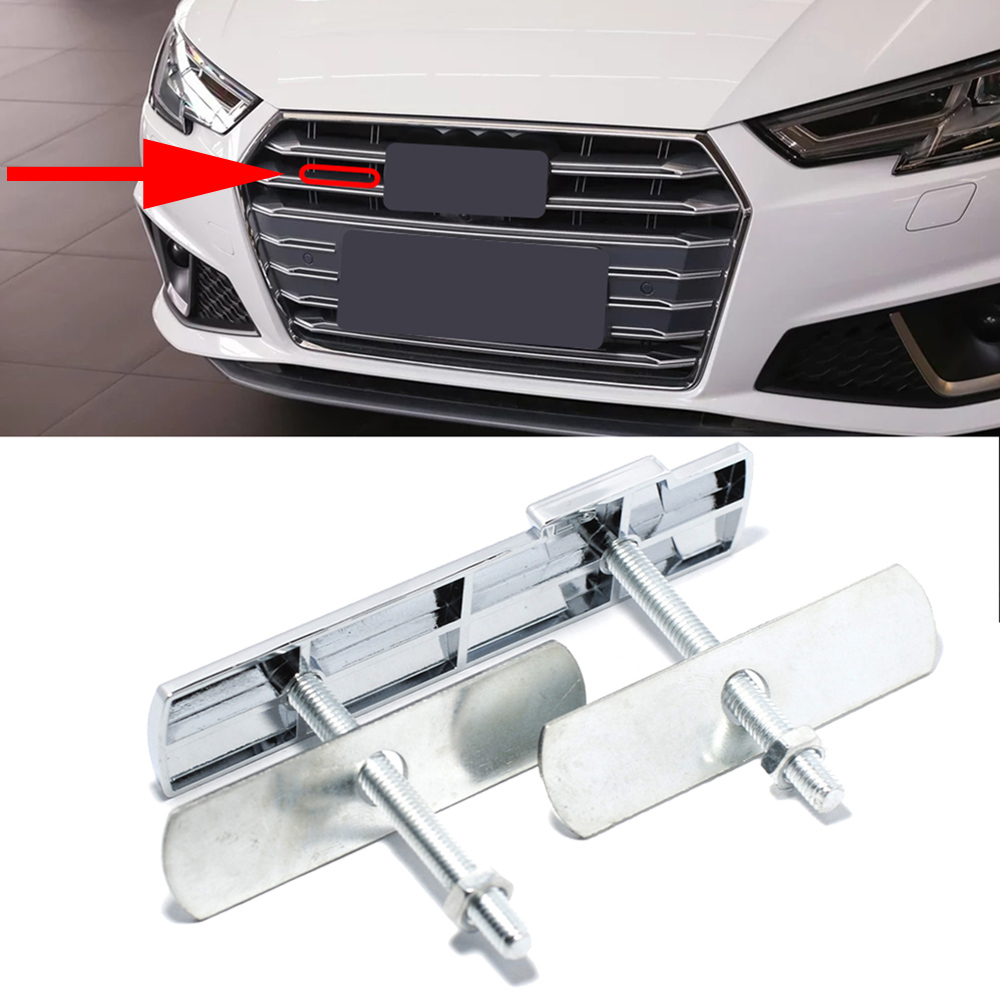 For Sline Logo Auto Front <font><b>Grill</b></font> Emblem Insignia Decor Cover Car Tuning For <font><b>Audi</b></font> <font><b>Q5</b></font> Q7 TT TTS A4 A3 S4 S5 S6 S7 S8 RS8 <font><b>SQ5</b></font> B6 B9 image